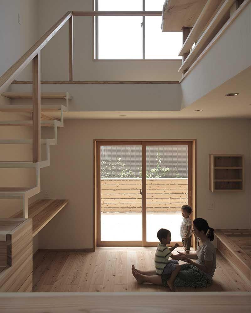 木づくりの家 (リビング)