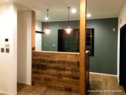 【 カフェのように寛げる趣味と理想の住まい 】―  座間市 O様邸~木造在来工法 中古一軒家の屋内フルリノベーション  ― (キッチンスペース)