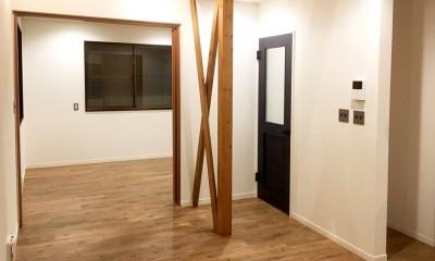 リビング・ダイニングスペース|【 カフェのように寛げる趣味と理想の住まい 】―  座間市 O様邸~木造在来工法 中古一軒家の屋内フルリノベーション  ―