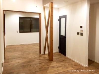 リビング・ダイニングスペース (【 カフェのように寛げる趣味と理想の住まい 】―  座間市 O様邸~木造在来工法 中古一軒家の屋内フルリノベーション  ―)