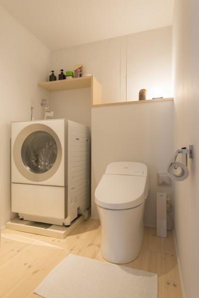 広いトイレ (都会感と気配を感じる家)