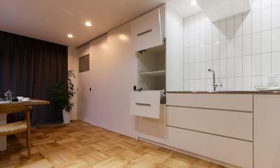 憧れのオーダーキッチン|ライフスタイルに合わせた上質な住まい~暮らしにこだわったマンションリノベ~