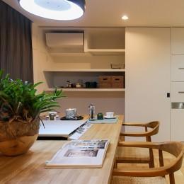 大容量!キッチン壁面収納 (ライフスタイルに合わせた上質な住まい~暮らしにこだわったマンションリノベ~)