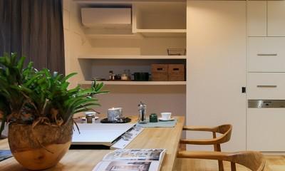 大容量!キッチン壁面収納|ライフスタイルに合わせた上質な住まい~暮らしにこだわったマンションリノベ~