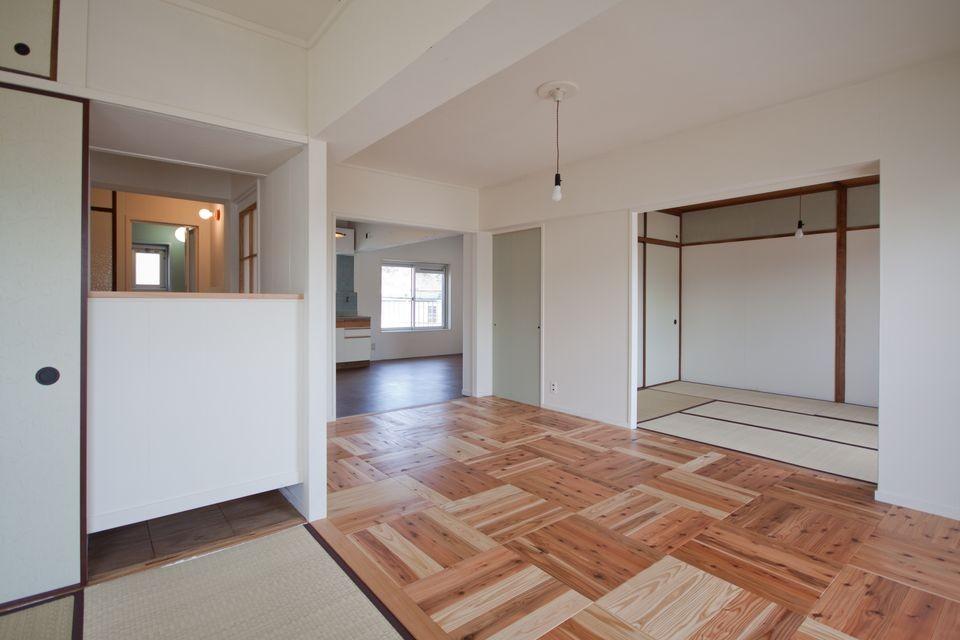 高倉台団地の暮しのハコ301|神戸市須磨区の団地DIYリノベーション (リビング)