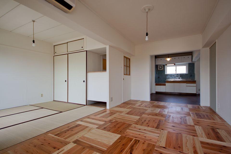 吉永建築デザインスタジオ「高倉台団地の暮しのハコ301|神戸市須磨区の団地DIYリノベーション」