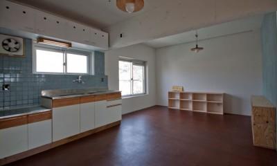 ダイニングキッチン|高倉台団地の暮しのハコ301|神戸市須磨区の団地DIYリノベーション