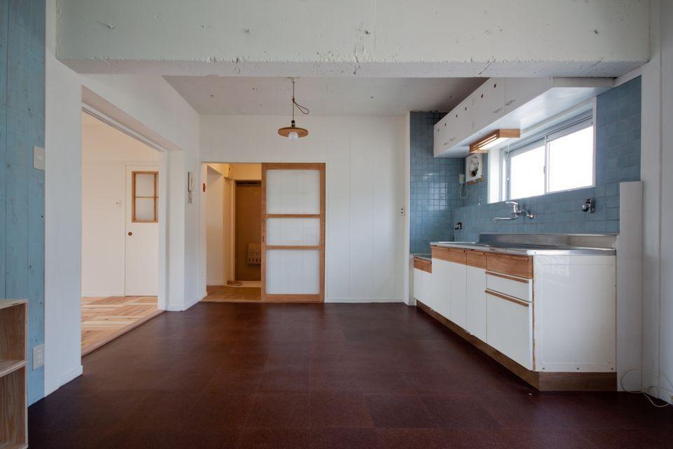 高倉台団地の暮しのハコ301|神戸市須磨区の団地DIYリノベーション (キッチン)