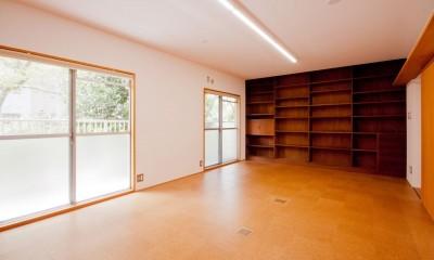 竹の台団地のアトリエ|京都府長岡京市の団地リノベーション。暮らしとしごとが同居する住宅とアトリエ (アトリエ)