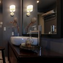 ライフスタイルに合わせた上質な住まい~暮らしにこだわったマンションリノベ~の写真 ホテルライクな洗面室