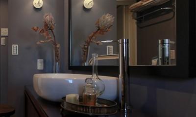 ホテルライクな洗面室|ライフスタイルに合わせた上質な住まい~暮らしにこだわったマンションリノベ~