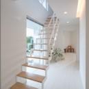眺望を楽しみ穏やかに暮らす家の写真 廊下・鉄骨階段