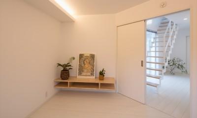 寝室|眺望を楽しみ穏やかに暮らす家
