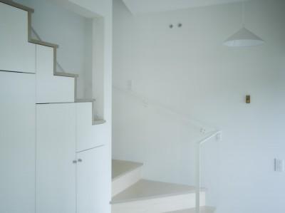玄関 (NE-CODATE-二世帯住宅+猫部屋、家族が集まる広い縁側)