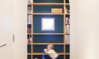 """W邸-124平米の広さをいかした巨大""""ワンルーム"""" (廊下)"""