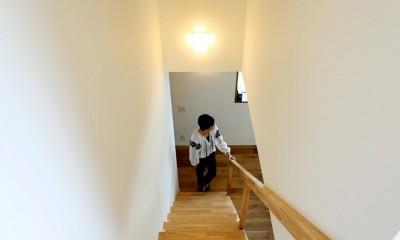 大きな屋根の家 (階段)