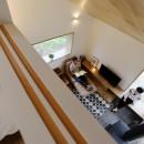 大きな屋根の家の写真 寝室からの眺め