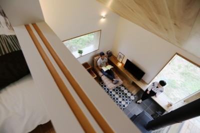 大きな屋根の家 (寝室からの眺め)