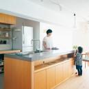 plainの写真 モールテックスを使用したオリジナルキッチン