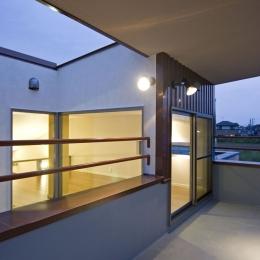 埼玉県和光市の区画整理地の家 (3階フロアにあるルーフバルコニー)