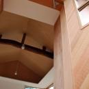 児島の小さなアトリエの写真 室内を見上げ