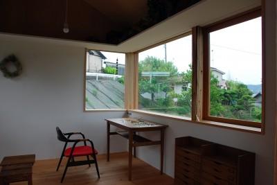 木製窓 (児島の小さなアトリエ)