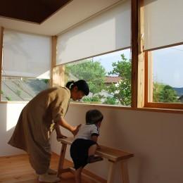 児島の小さなアトリエ (窓とロールスクリーン)
