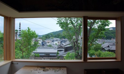 児島の小さなアトリエ (室内からの眺め)