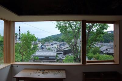 室内からの眺め (児島の小さなアトリエ)