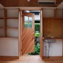 児島の小さなアトリエの写真 玄関と収納棚
