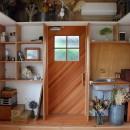 児島の小さなアトリエの写真 玄関と収納棚-2