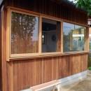 児島の小さなアトリエの写真 木製窓
