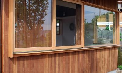 木製窓|児島の小さなアトリエ