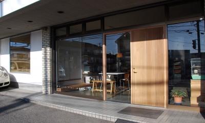 事務所兼玄関外観|SOHOリノベーション