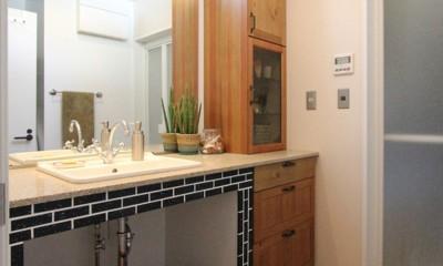 洗面室|大好きな本牧を住処に(本牧 戸建てリノベーション)