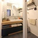 心地よさと楽しさのバランス(沼袋 戸建てリノベーション)の写真 洗面室