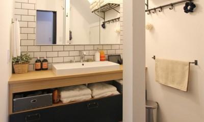 心地よさと楽しさのバランス(沼袋 戸建てリノベーション) (洗面室)