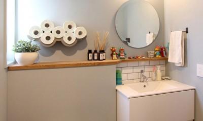 心地よさと楽しさのバランス(沼袋 戸建てリノベーション) (トイレ)