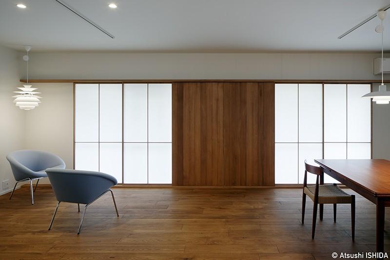 青木律典|デザインライフ設計室「専用庭のある約100平米の団地リノベーション」