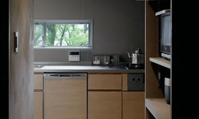 キッチンの風景|専用庭のある約100平米の団地リノベーション