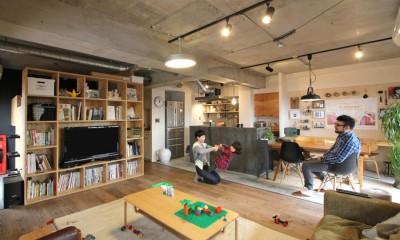 リビングダイニング|壁をつくらない 空間の仕切り方(鶴見区 I邸マンションリノベーション)