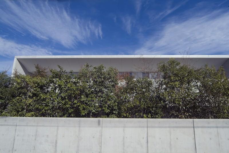 kirishima-no-ie   屋根も壁も、コンクリート打放しの仕上げです。 (外観(南面))
