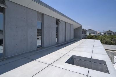 外観(北面屋根) (kirishima-no-ie   屋根も壁も、コンクリート打放しの仕上げです。)