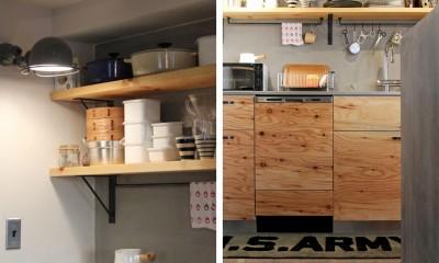 キッチン|壁をつくらない 空間の仕切り方(鶴見区 I邸マンションリノベーション)