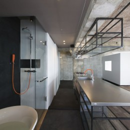 tokyo LOFT (バスルームよりキッチン・玄関を見る)