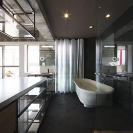 tokyo LOFT (キッチンよりバスルームを見る)