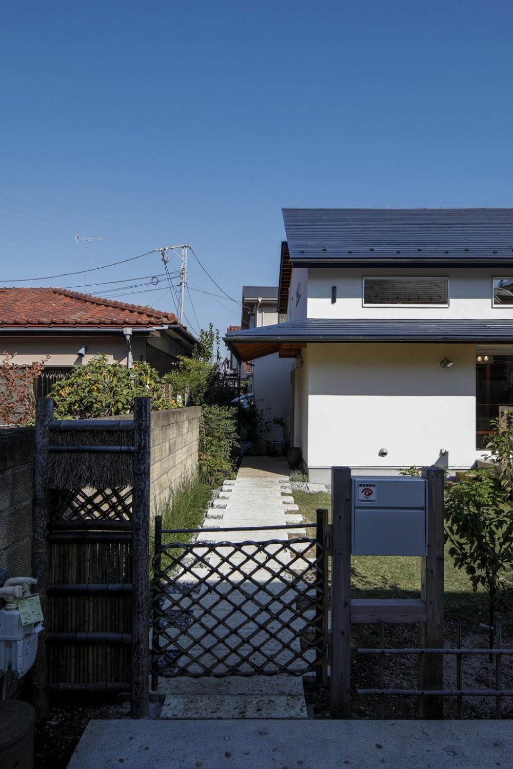 家族を結びつける大屋根の家 (外観)