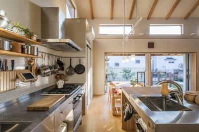 キッチン (家族を結びつける大屋根の家)