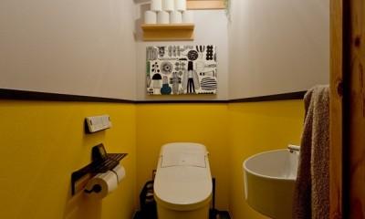スギに囲まれたスキな家 (トイレ)