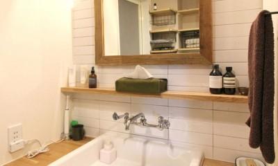 洗面室|壁をつくらない 空間の仕切り方(鶴見区 I邸マンションリノベーション)